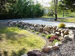 boulder rock retaining wall