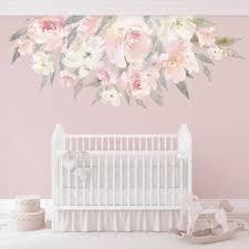 Nursery Decor Flowers Delaney Mae Blush Pink Wall Decals Etsy