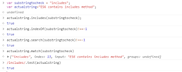 javascript string conns check if a