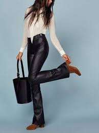cocktail ideas leather bootcut pants