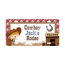 Amazon Com Personalized Boys Room Sign Cowboy Decor Rustic Sign Boy Decor Customized Sign Kid S Name Sign Kids Door Sign License Plate Sign Handmade