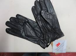 gloves l black leather 3m thinsulate