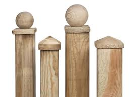 Pressure Treated Wooden Fence Post Cap
