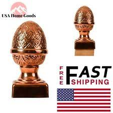Protectyte Slip Over Fence Post Cap Fencing Deck Copper Pineapple 4 X 4 Inch For Sale Online Ebay