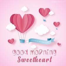 good morning sweetheart love balloons