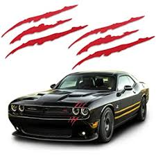 Amazon Com Viavinyl Claw Marks Headlight Decal Available In Twelve Colors Genuine Brand Vinyl Sticker Decal For Sports Cars Black Automotive