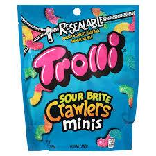 trolli sour brite crawlers mini candy