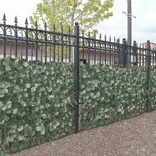 Aleko 4scrn94x39indg Unb 94 X 39 In Privacy Artificial Fence Screen Hedge Wall Set Of 4 Walmart Canada