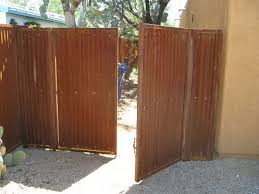 Corrugated Fence And Gates Affordable Fence Gates Corrugated Metal Fence Metal Fence Gates Steel Fence