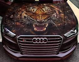 Vinyl Car Hood Full Color Wrap Graphics Decal Tiger Beast Grin Etsy