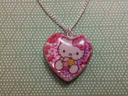 love sweetheart hello kitty necklace