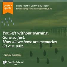 brother death poems loss of brother poems