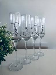 Champagne Flute Decal Champagne Flute Sticker Wedding Etsy