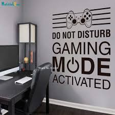 Gamer Wall Sticker Gaming Room Decor Video Game Door Decal Kids Boys Bedroom Self Adhesive Art Murals Vinyl Yt4480 Wall Stickers Aliexpress