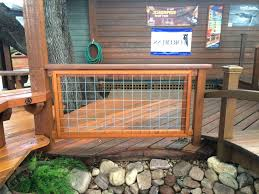 Hog Fence Deck Railing Galvanized Oscarsplace Furniture Ideas Ideal Hog Fence Deck Railing