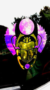 Color Shifting Vinyl Decal Egyptian Scarab Car Decal Window Decal Multiple Surface Decal