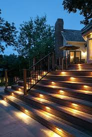 Low Voltage Deck Post Lights With Traditional Deck And Deck Lighting Outdoor Lighting Safety Lighting Step Lighting Finefurnished Com