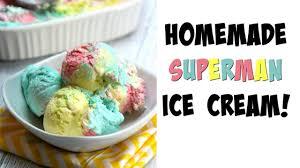 homemade superman ice cream recipe