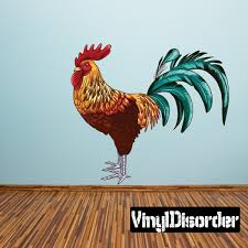 Rooster Wall Decal Vinyl Car Sticker Uscolor001 25 Inches Walmart Com Walmart Com