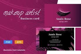 makeup artist name card sle