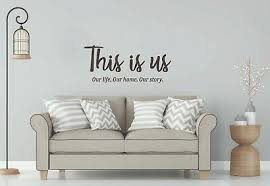 This Is Us Wall Decal Decor Family Wall Art Quote Vinyl Sticker Inspirational Ebay