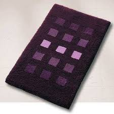 rich multi color plush bathroom rug