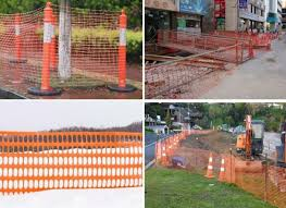 Orange Black Plastic Barrier Fencing Construction Safety Mesh China Mesh Barrier Mesh Made In China Com