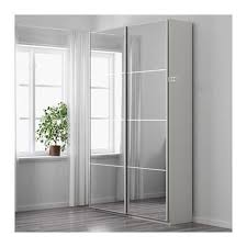 ikea pax mirrored sliding wardrobe