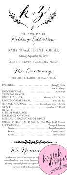 wedding program template on your big