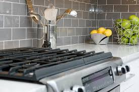 daltile grey subway tile backsplash