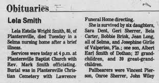 Obituary for Lela Smith (Aged 85) - Newspapers.com