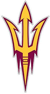 Amazon Com Asu Arizona State Pitchfork Decals Large And X Large X Large Arts Crafts Sewing