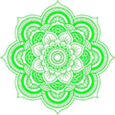Detailed Mandala Design Bright Lime Green White Vinyl Decal Sticker Shinobi Stickers