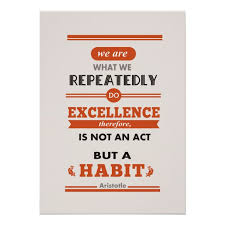 Aristotle We Are What We Repeatedly Do Poster Zazzle Com