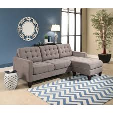 abbyson easton grey fabric reversible