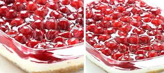 no bake cherry cheesecake lasagna