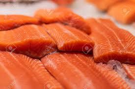 Fresh Raw Salmon Steaks With Pepper ...