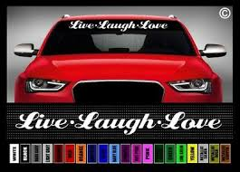 40 Live Laugh Love Inspirational Cute Funny Car Decal Sticker Windshield Banner Ebay