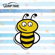 Jump Time 13cm X 9 6cm Funny Bee Happy Window Vinyl Car Stickers Car Styling Auto Motorcycle Car Decals Accessories Car Stickers Aliexpress