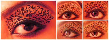 leopard print eye makeup tutorial