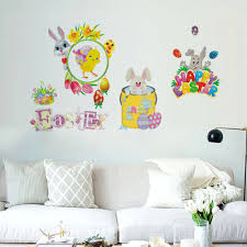 Nice Easter Bunnies Wall Decals Kid Bedroom Peel And Stick Removable Decoration