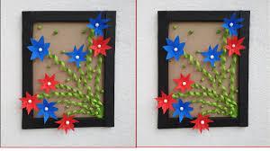 beautiful flower frame wall hanging