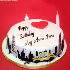 write name in city birthday cake pics