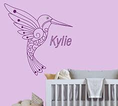 Amazon Com Custom Name Cute Bird Animal Series Baby Girl Nursery Wall Decal For Baby Room Decorations Mural Wall Decal Sticker For Home Children S Bedroom J109 Wide 16 X17 Height Baby