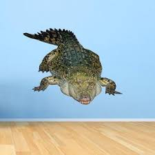 Vwaq Crocodile Wall Decal Sticker Realistic Animal Vinyl Wall Art