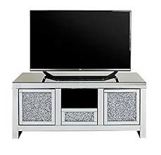diamond crushed tv stand soft close