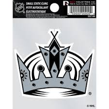 Los Angeles Kings Retro Logo Static Cling At Sticker Shoppe