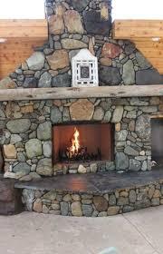 backyard fireplace ideas river rocks