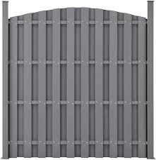 Neu Holz Garden Fence Panel Curved Top Wpc Wood Plastic Composite Gray 185x747cm Amazon Co Uk Kitchen Home