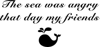Amazon Com Ngk Trading Seinfeld The Sea Was Angry That Day My Friends Vinyl Decal Bumper Sticker Wall Laptop Window Sticker 5 Kitchen Dining